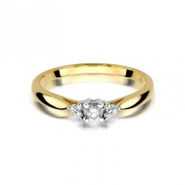 Złoty pierścionek z diamentem EY-428 0,13ct