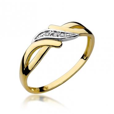 Złoty pierścionek z diamentem EY-192 0,02ct