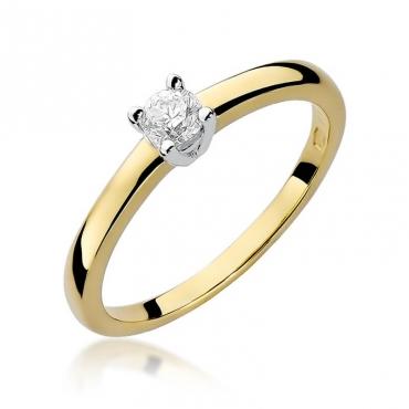 Złoty pierścionek z diamentem EY-292 0,20ct