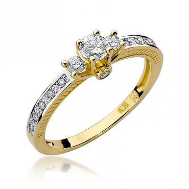 Złoty pierścionek z diamentem EY-199 0,42ct