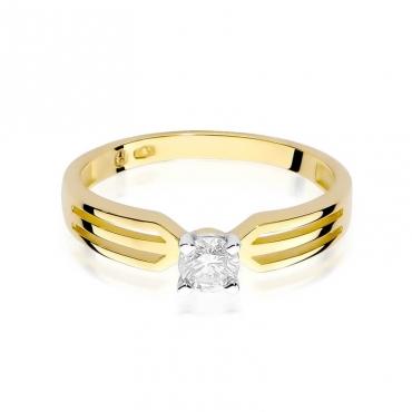 Złoty pierścionek z diamentem EY-226B 0,30ct