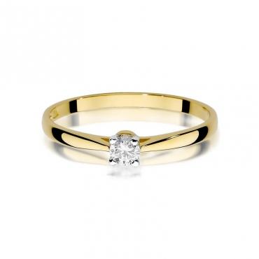 Złoty pierścionek z diamentem EY-335 0,15ct