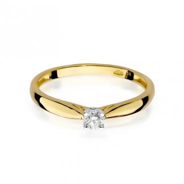 Złoty pierścionek z diamentem EY-45 0,10ct