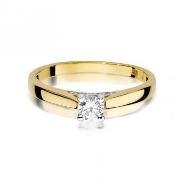 Złoty pierścionek z diamentem EY-341 0,30ct