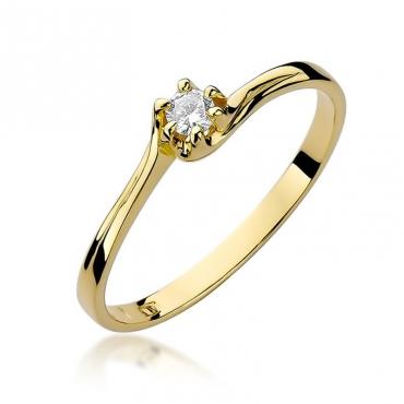 Złoty pierścionek z diamentem EY-163 0,10ct