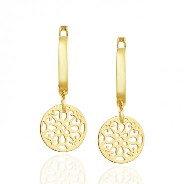 Złote kolczyki wiszące Maroko 3.2428