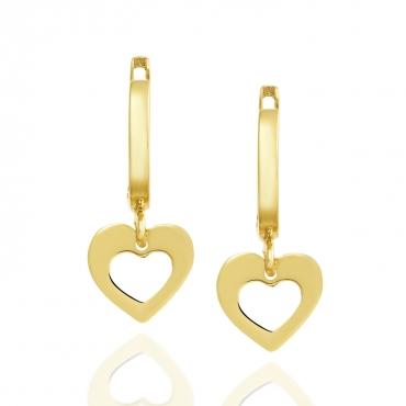 Złote kolczyki wiszące Serce 3.2425a1