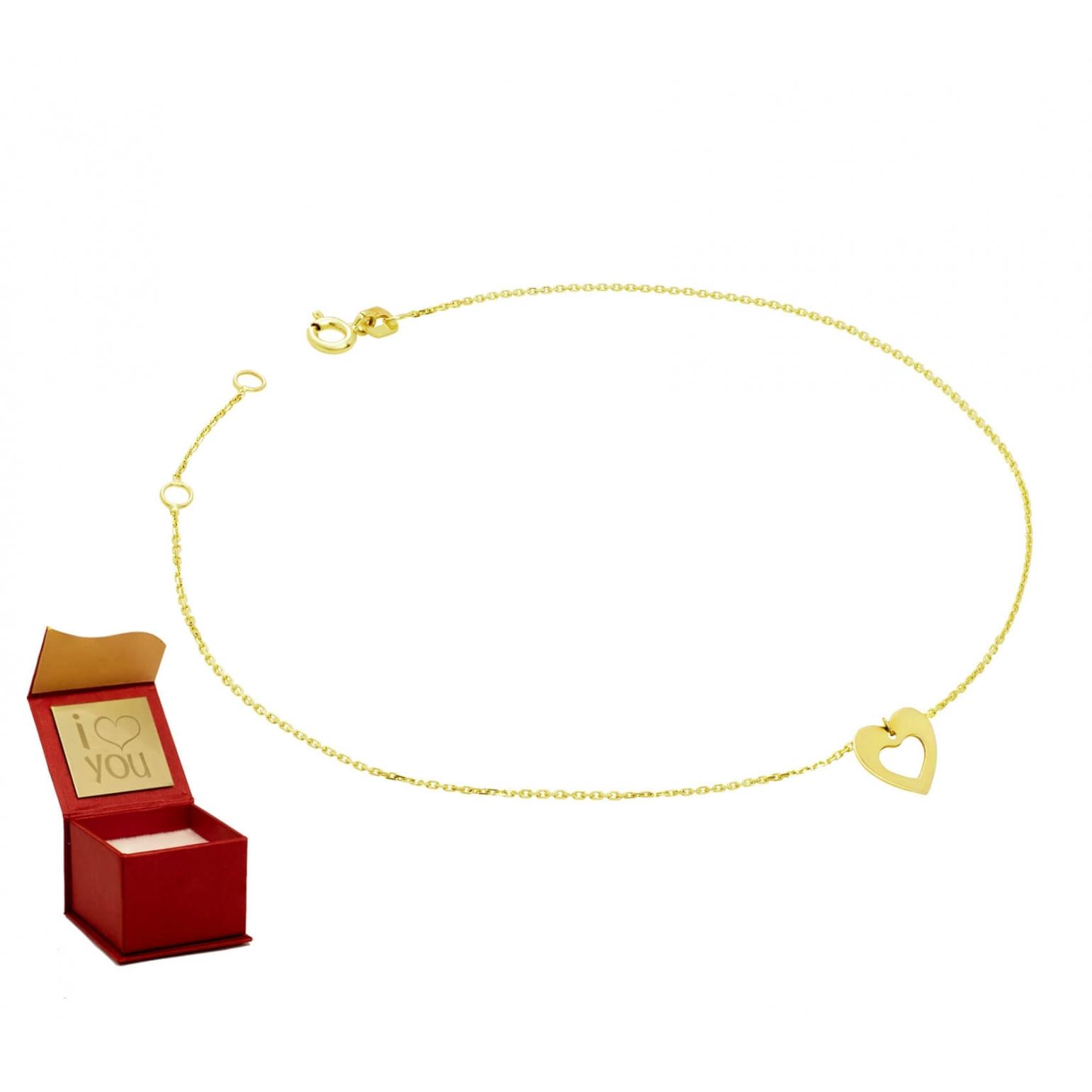 Złota bransoletka na stopę 3.2425a3