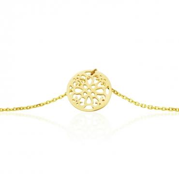 Złota bransoletka na stopę MAROKO 3.2428s