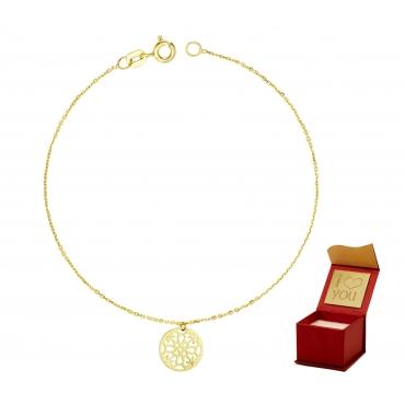 Złota bransoletka na dłoń MAROKO