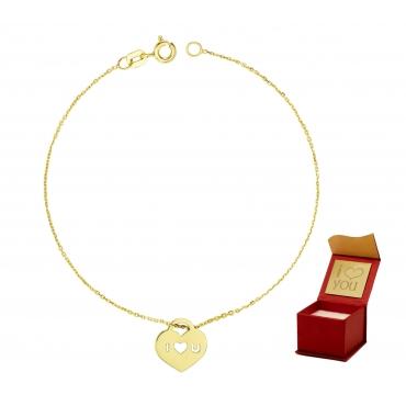 Złota bransoletka na dłoń ILOVEU próba 585