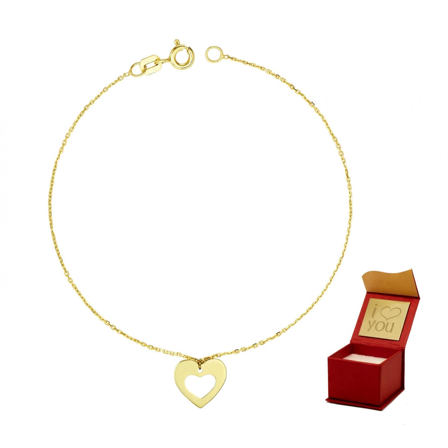 Złota bransoletka na dłoń SERCE 3.2425a2