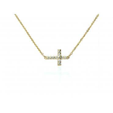 Modna celebrytka z Krzyżykiem c.317