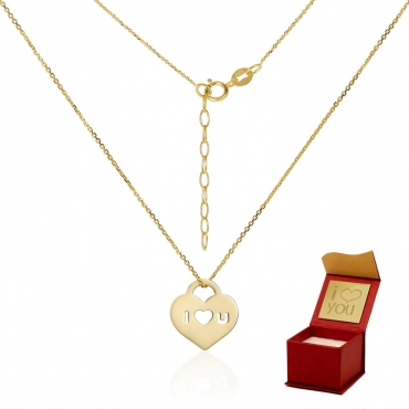 Złota celebrytka Serce Love c.313