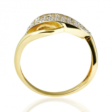 Złoty pierścionek z kamieniami FINEZJA 3.1632