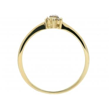 Złoty pierścionek Kamienie Kwiatek 3.1522