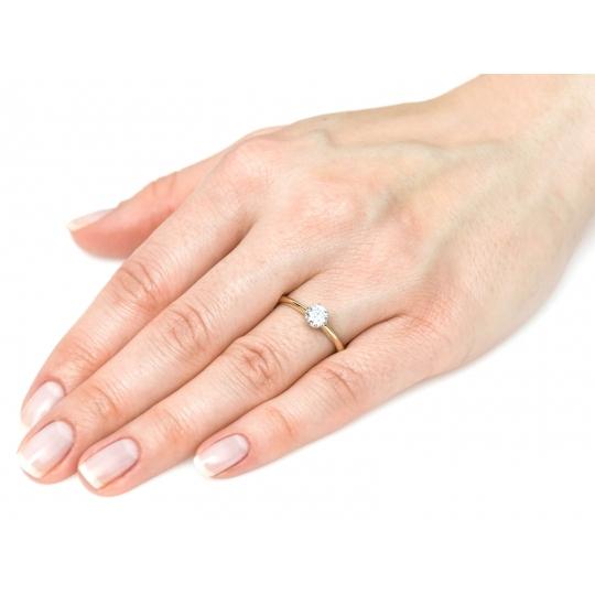 ZŁOTY PIERŚCIONEK Zaręczyny