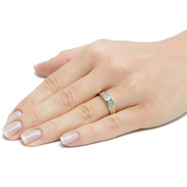 Obrączka złoty pierścionek z Cyrkoniami 3.1561