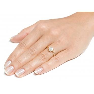 Elegancki pierścionek ze złota Wzór Kwiatek 2.1085