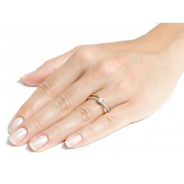 Złoty pierścionek PRZEPLATANY 2.1372 PREZENT!