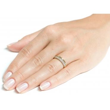 ZŁOTA OBRĄCZKA kamienie pierścionek 3.1526