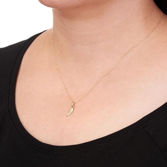 Złoty komplet łańcuszek sakralny z przewieszką Matki Boskiej