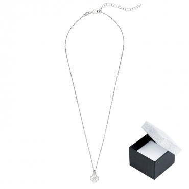 Srebrny naszyjnik z koniczynką