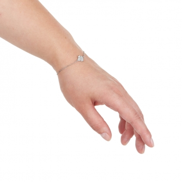 Srebrna bransoletka z koniczynką SB5