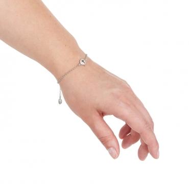 Srebrna bransoletka z ozdobami Sakralnymi