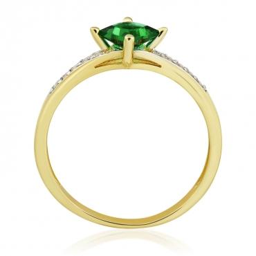 Złoty pierścionek z Cyrkoniami Zaręczynowy 3.1644z