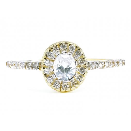 ZŁOTY pierścionek bogato ZDOBIONY
