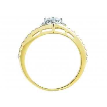 Złoty pierścionek zaręczynowy elegancki 3.1558