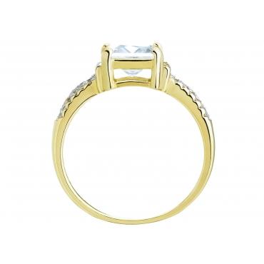 Złoty pierścionek zaręczynowy Duży kamień 3.1585