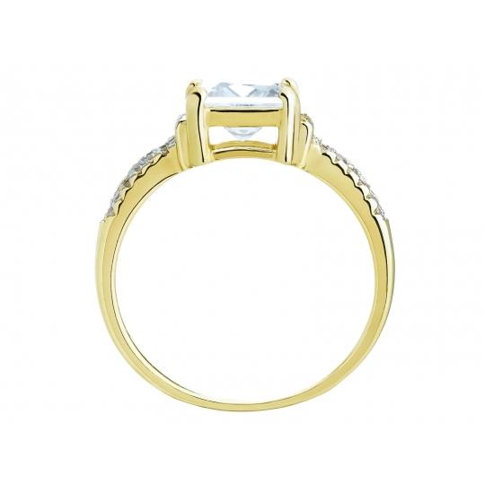 Złoty pierścionek zaręczynowy Duży kamień