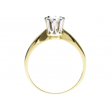 Złoty pierścionek Zaręczyny klasyka