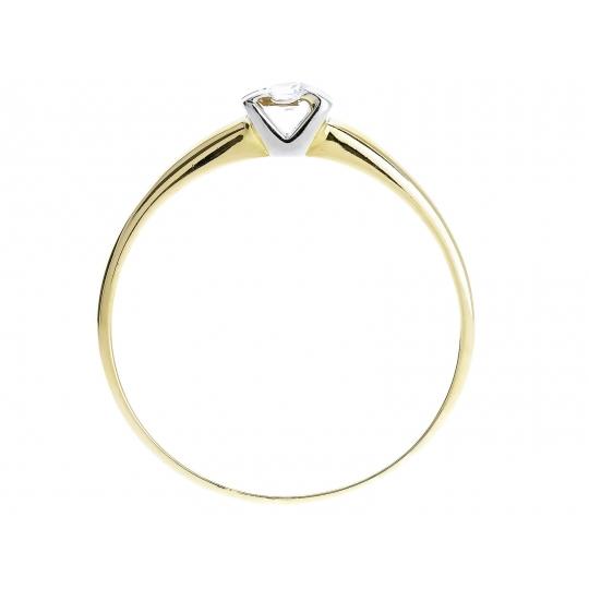 Złoty pierścionek z oczkiem Cyrkonia