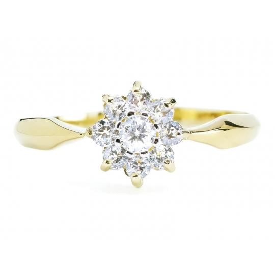Elegancki pierścionek ze złota Wzór Kwiatek