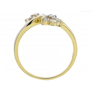 Złoty pierścionek Dwa kwiaty KWIATEK 3.1409