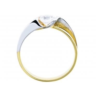 Piękny Złoty pierścionek z dużą Cyrkonią 3.1524