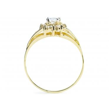Modny Złoty pierścionek z cyrkoniami Markiza 2.982