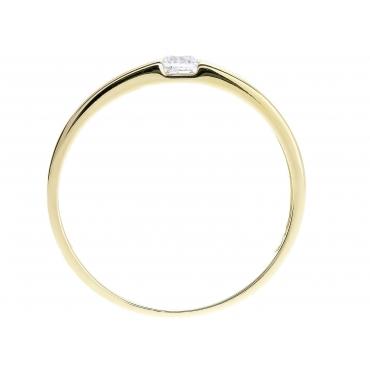 Złoty pierścionek kamień Obrączka
