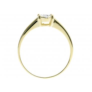 Złoty pierścionek z cyrkoniami Kwiatek 2.1240