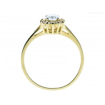 Elegancki Złoty pierścionek Kwiatek 2BN GRATIS