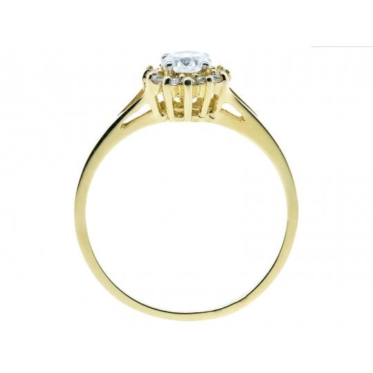 Elegancki Złoty pierścionek Kwiatek