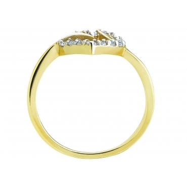 Złoty pierścionek Serce Miłość Prezent 3.1577