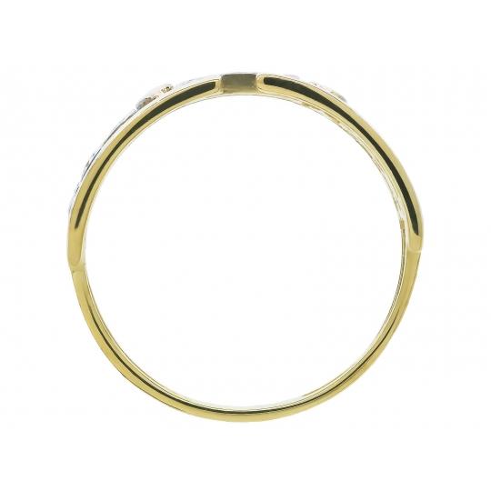Złoty pierścionek Piękny wzór Obrączka