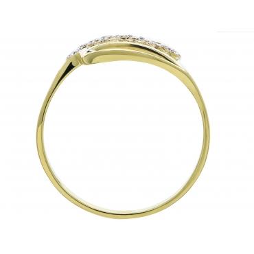 Złoty pierścionek PIĘKNA FALA CELEBRYTKA
