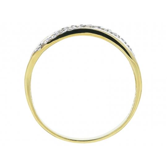 Złoty pierścionek Obrączka Kamienie