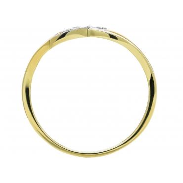 Złoty pierścionek Kamienie PRZEPLATANY WZÓR 3.1541