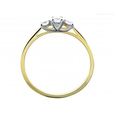 Złoty pierścionek Kamienie Piękny wzór 3.1519